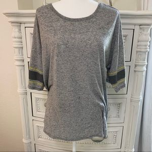 VICTORIA'S SECRET HEATHER GRAY OVERSIZED T SHIRT